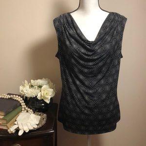 Rafaella scoop neck sleeveless shirt size large